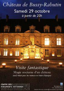 Cette visite du château dans la nuit sera l'occasion de découvrir des trésors cachés du château en compagnie de guides costumés pour la circonstance et laissez-vous conter l'histoire autrement.
