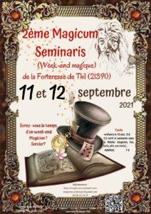 Affiche du 2ème Magicum Seminaris de la Forteresse de Thil des 11 et 12 septembre 2021